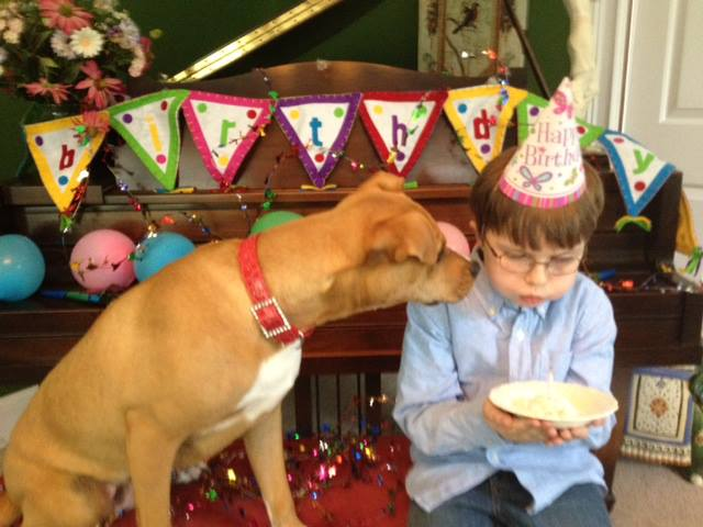 En el primer cumpleaños de Xena